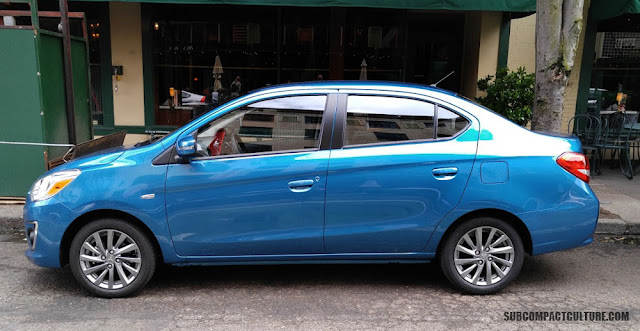 2017 Mitsubishi Mirage G4 Sedan on the street