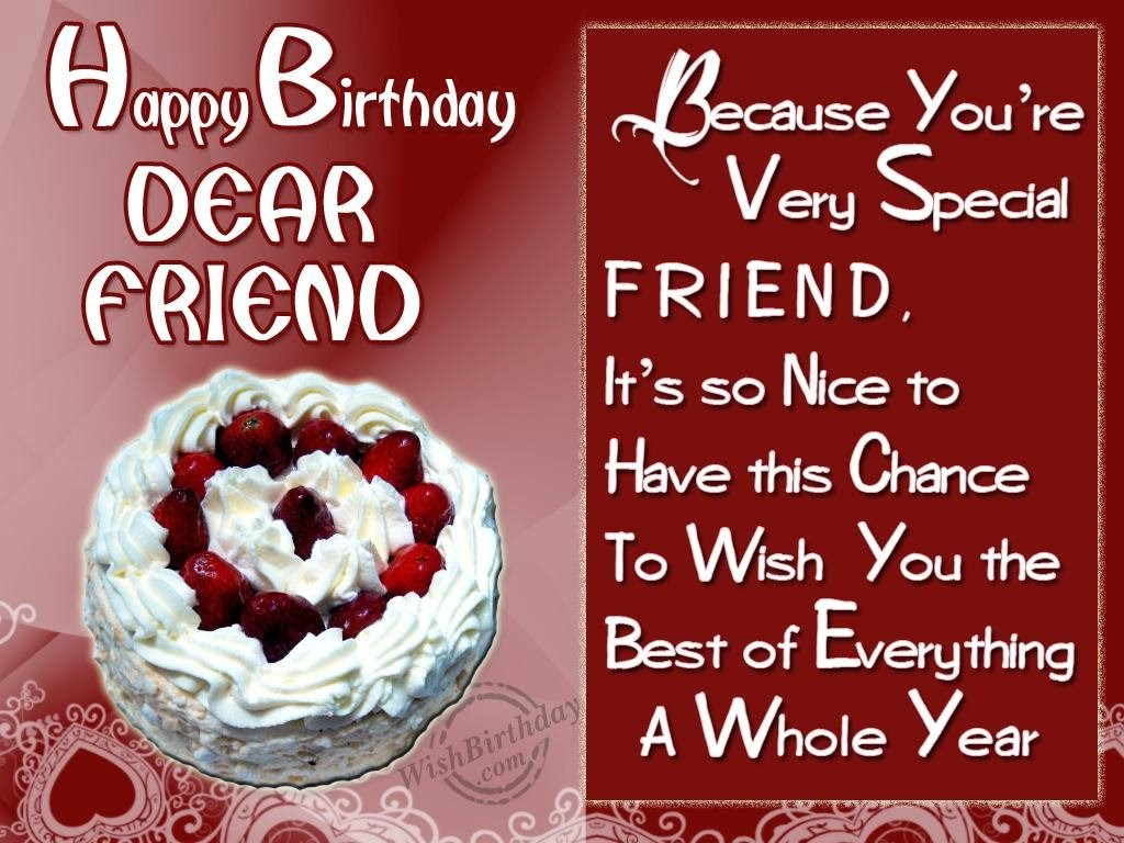 Birthday Wishes Dear Friend