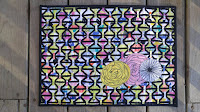 Here Comes the Fun woven weaving mini quilt by Slice of Pi Quilts