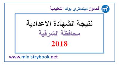 نتيجة الشهادة الاعدادية محافظة الشرقية 2018 برقم الجلوس