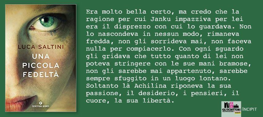 Una piccola fedeltà, di Luca Saltini: incipit