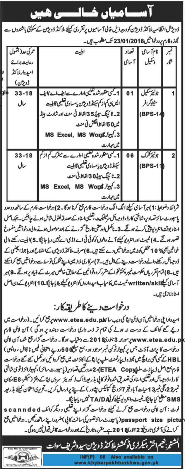 Jobs In Malakand Division Swat