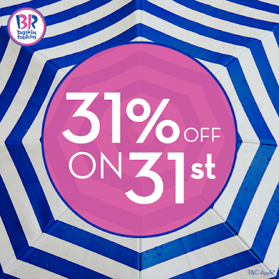 Baskin-Robbins 31% OFF 31st of the Month