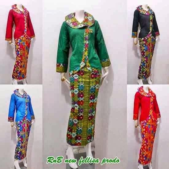 Baju Batik Setelan Rok Panjang Model Pramugari Baju