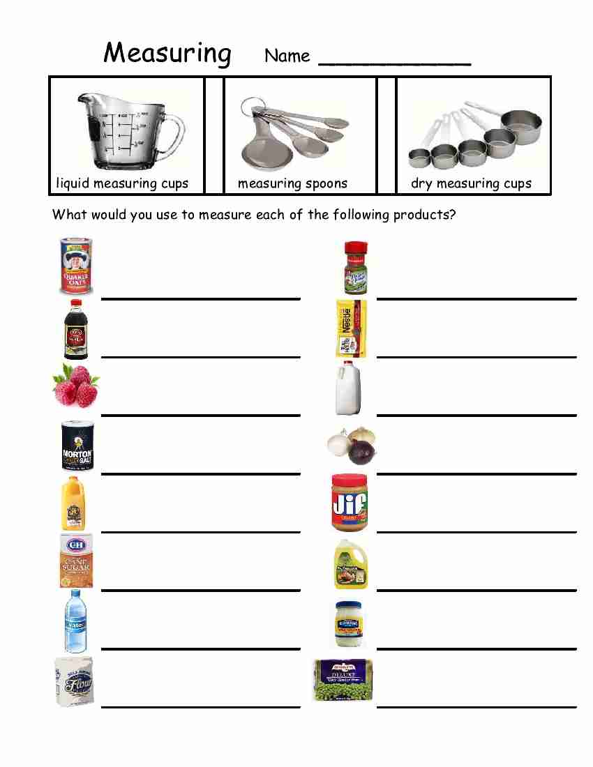 Printables Cooking Measurements Worksheet measurements and recipes lessons tes teach empowered by them april 2012