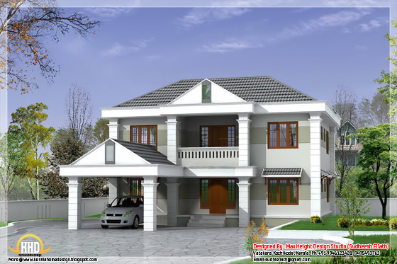 2850 square feet double storey kerala model home design