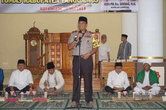 Wakapolda Lampung Safari Ramadhan di Tanggamus, Ini Pesannya