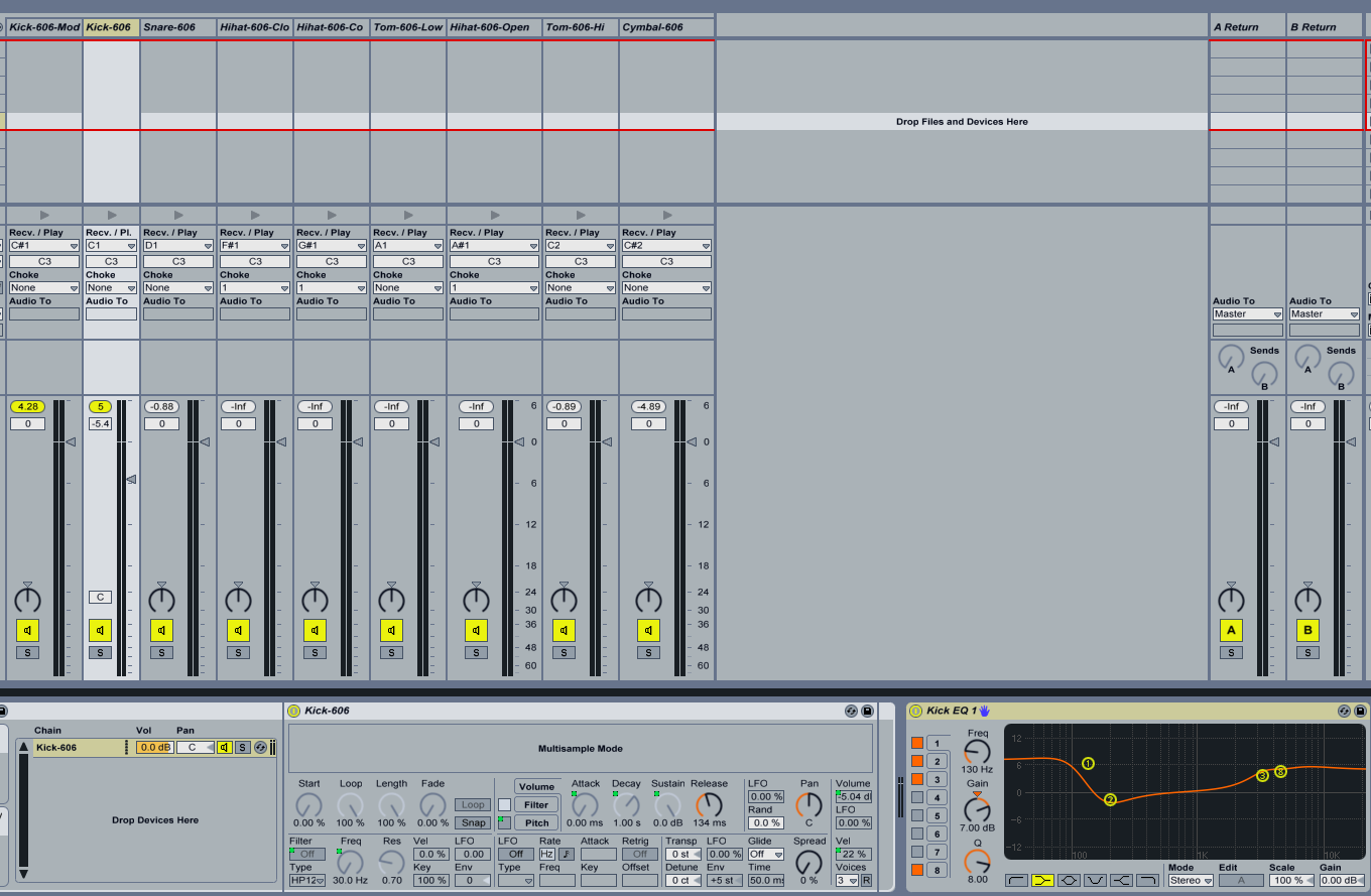 how to add cutoff in ableton live