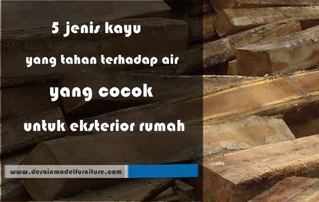 5 jenis kayu yang tahan terhadap air yang cocok untuk eksterior rumah