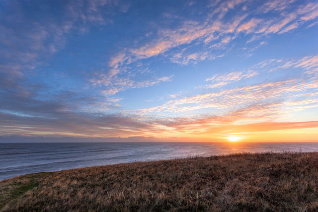 North east coast sunrise from the cliffs at Seaham near Sunderland