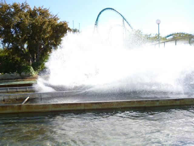 theme park water ride six flags california