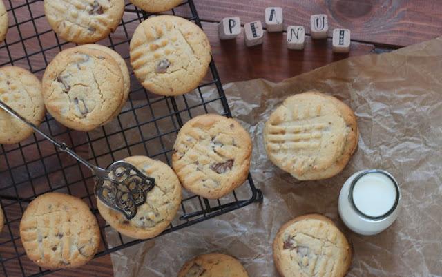 Erdnussbutter-Schokoladen-Cookies