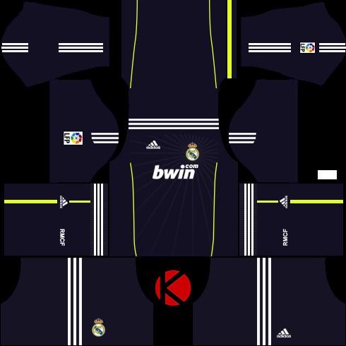 best loved 04c23 02779 Real Madrid Kits 2010/2011 - Dream League Soccer - Kuchalana