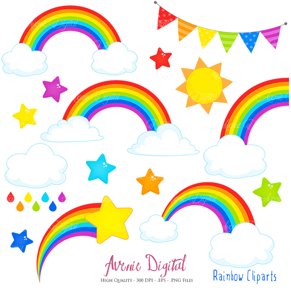 new matching items rainbows clipart scrapbook printables vector rh aveniedigital blogspot com scrapbook clip art free scrapbooking clip art images