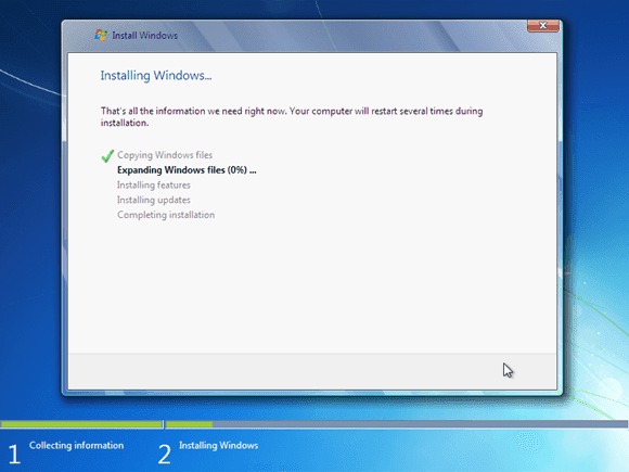 Cara instal windows 7 - proses instaling windows 7