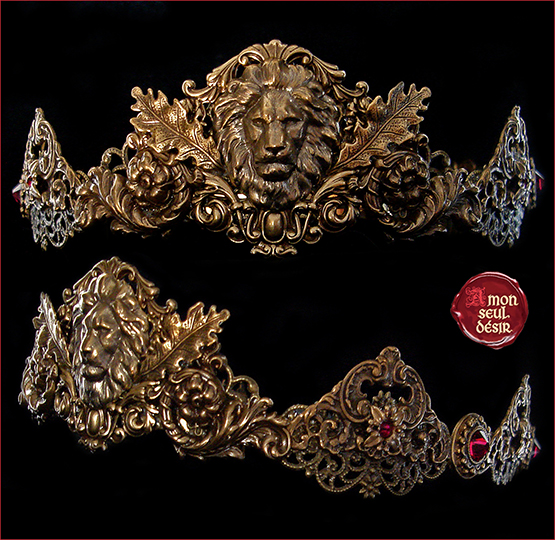 couronne lion Cersei Lannister Crown Medieval Circlet Renaissance Headdress Game of Thrones Fantasy