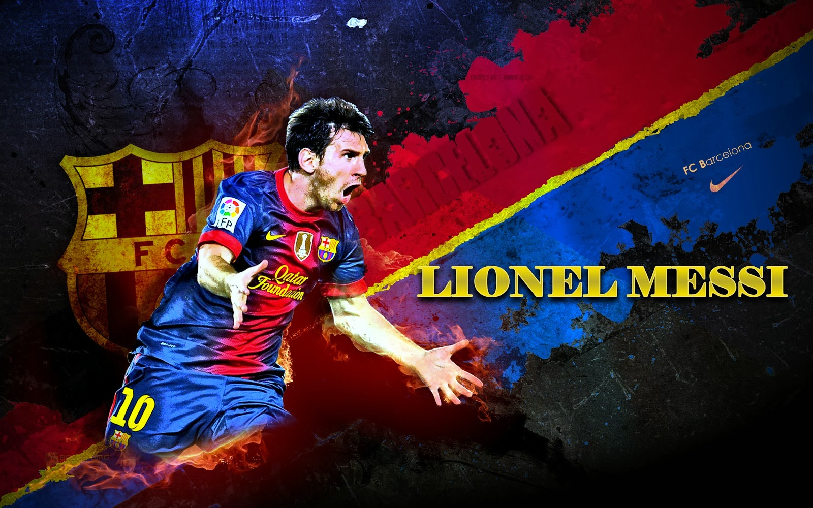 Lionel Messi Barcelona New Hd Wallpaper 2013 2014