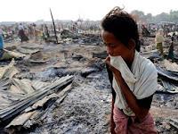 Derita Muslim Rohingya, Kampung Dibakar, Harta Dirampas dan Wanita Diperkosa Tentara Myanmar