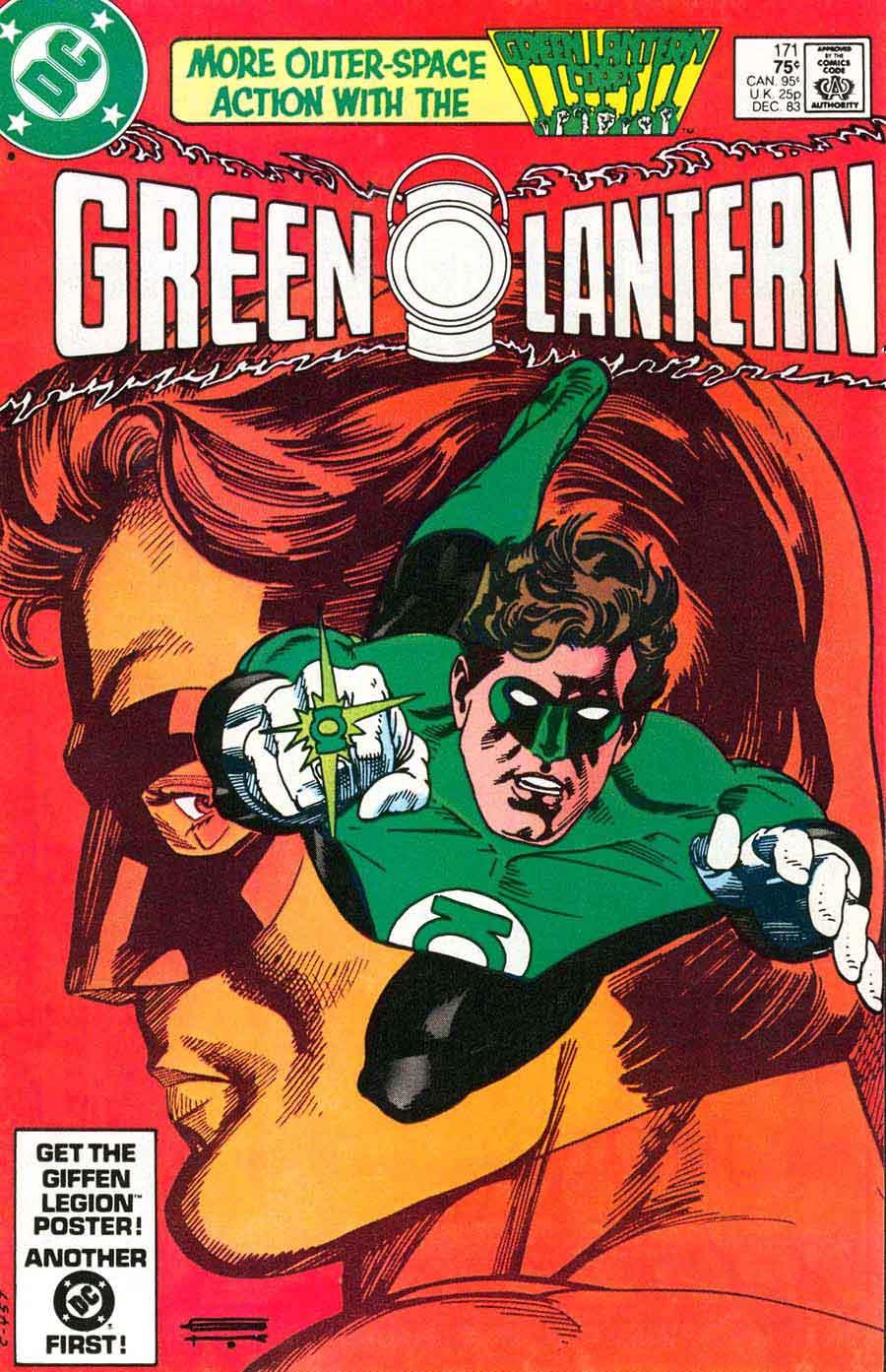 Green Lantern v2 #171 dc comic book cover art by Gil Kane