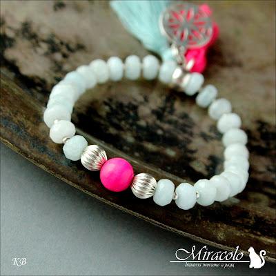 akwamaryn, aquamarine bracelet
