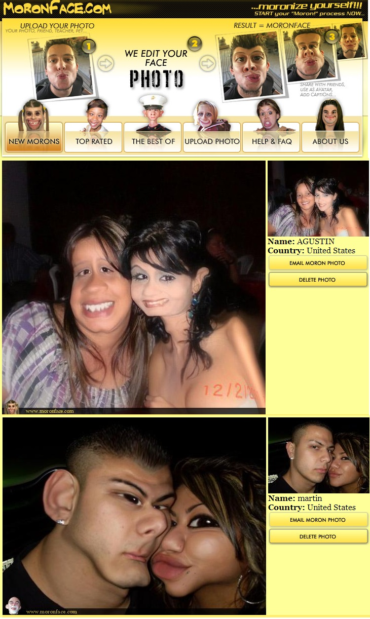 Moronface Make Funny Face Pictures Create Funny Ugly Photo Face Effect Moron Face Online Free