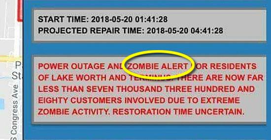 Alerta de zumbis do governo durante apagão assusta moradores de cidade nos EUA