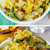 Parmesan Zucchini and Spaghetti Squash with Pine Nuts