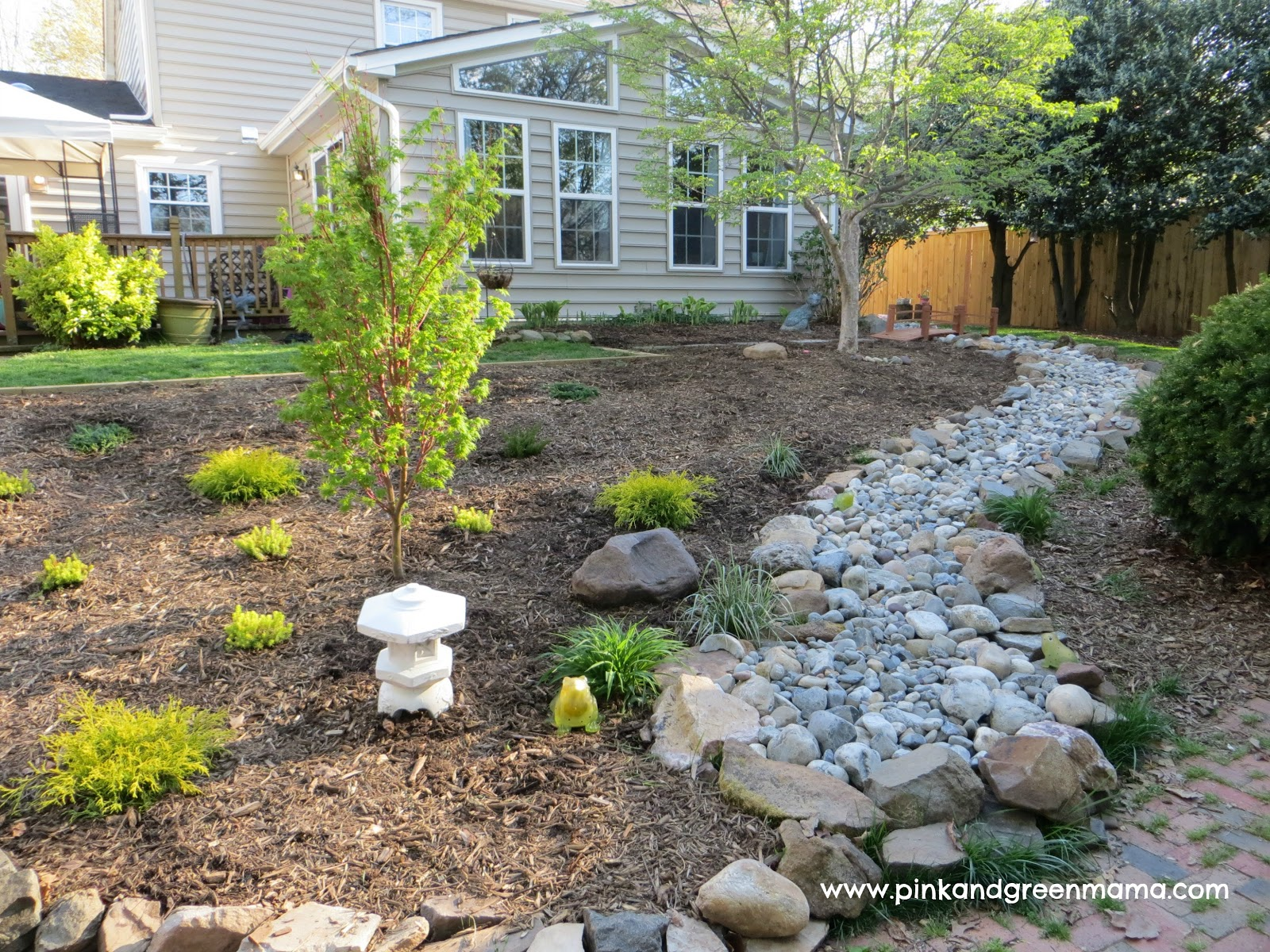 Pink and Green Mama: DIY Backyard Makeover on a Budget ... on Patio Makeovers On A Budget id=24201