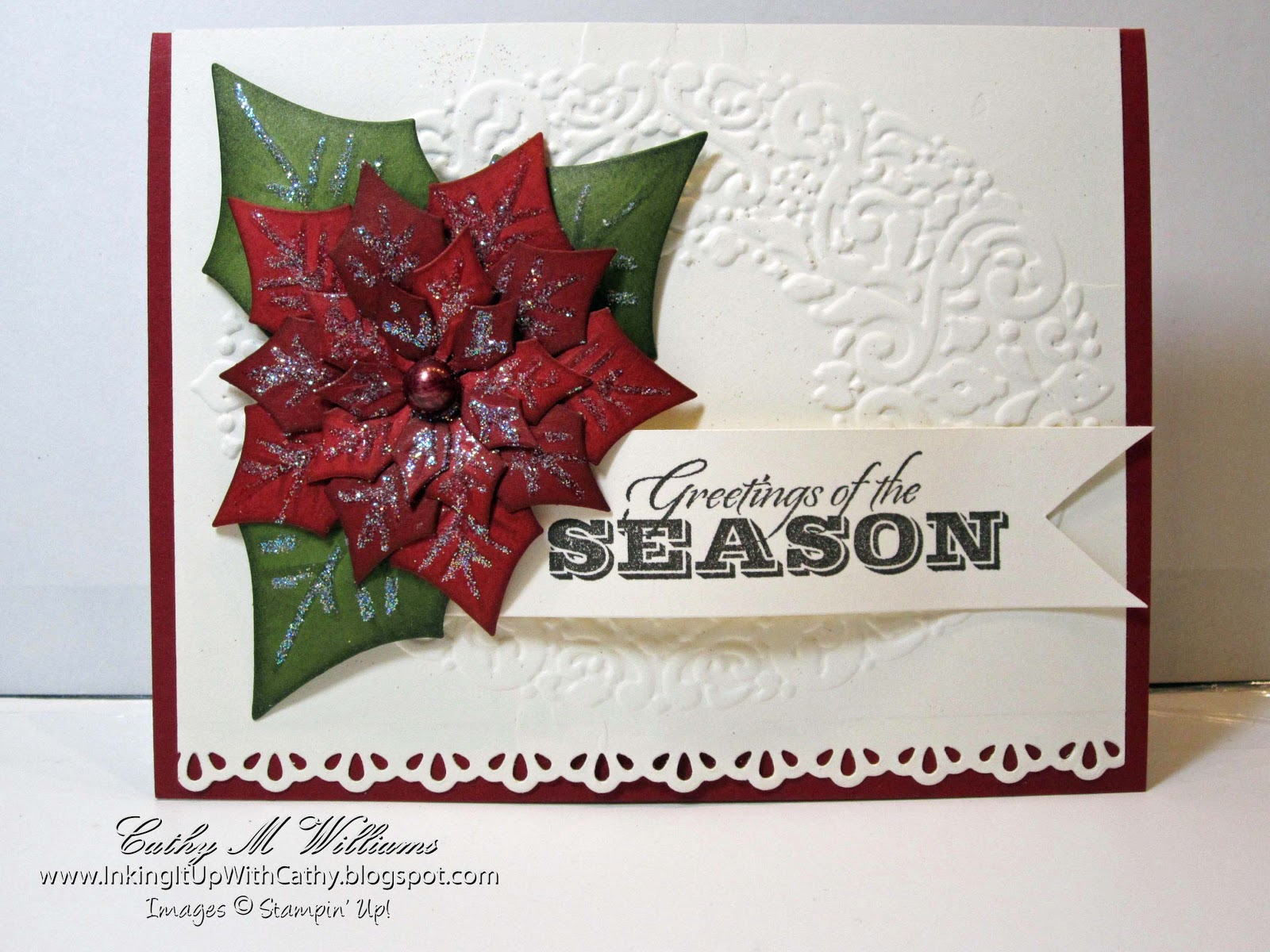 Inking It Up With Cathy Stampin Ups Greetings Of The Season