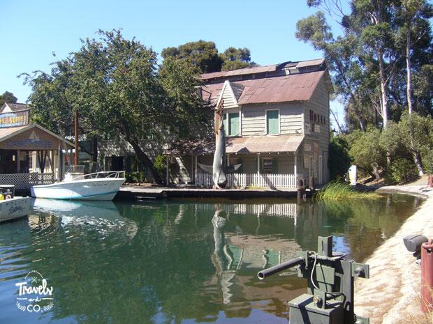 Visita a los Universal Studios en California escenario pelicula Tiburon