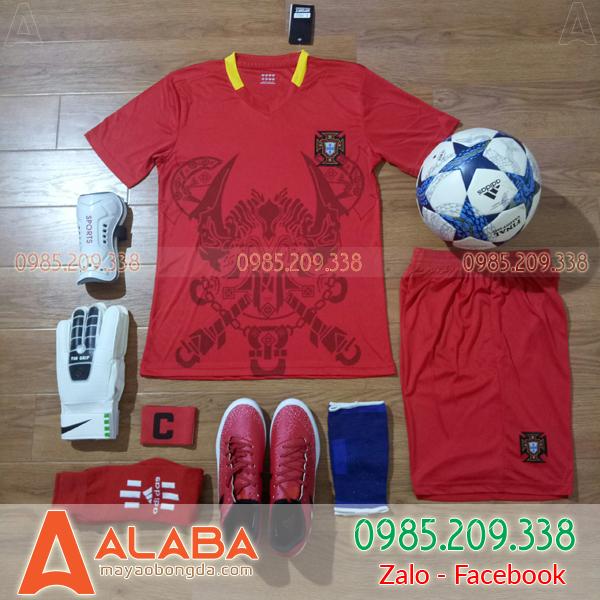 Áo Đội Tuyển Bồ Đào Nha Fan 2018 Màu Đỏ