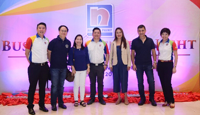 Nippon Paint Team with their Business Partners.