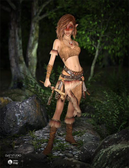 Ktarya Outfit for Genesis 3 Female and Genesis 8 Female