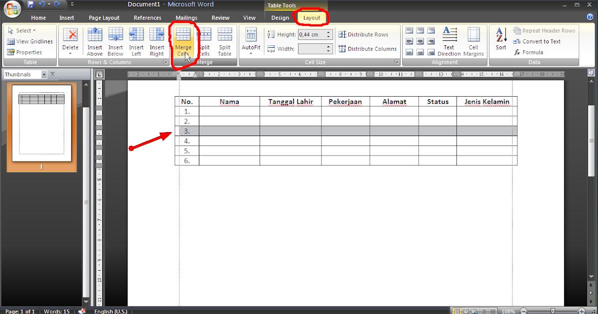 Cara Menggabungkan Beberapa Kolom Menjadi Satu Pada Tabel Microsoft ...
