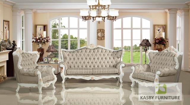 Set Sofa Tamu mewah    Dengan harga furniture  yang bersaing serta kualitas yang bagus. di buat dengan  material kayu  dan fabric, furniture  jepara ini terlihat klasik tapi berkesan  mewah dan elegant sangat cocok di tempatkan di ruang tamu yang mengusung konsep desain interior klasik maupun modern, atau ruang favorit anda. sofa tamu ini adalah produk mebel jepara berkualitas tinggi yang kami tawarkan untuk anda dengan harga yang sangat terjangkau, dan set kursi sofa tamu klasik mewah terbaru ini kami jamin memiliki kualitas produk yang baik karena kami memproduksinya menggunakan bahan-bahan yang berkualitas dan dikerjakan oleh tenaga kami yang sangat mahir dan berpengalaman dalam bidang pembuatan produk mebel sofa dan kursi tamu.. Dengan finishing yang baik sofa tamu ini mamiliki sisi detail ukiran yang terlihat sedikit menonjol dan memberikan aksentuasi yang pas.