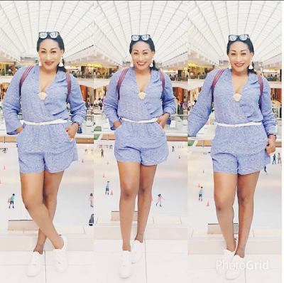 Actress Oge Okoye Shares Lovely Photos As She Departs Abroad For Nigeria