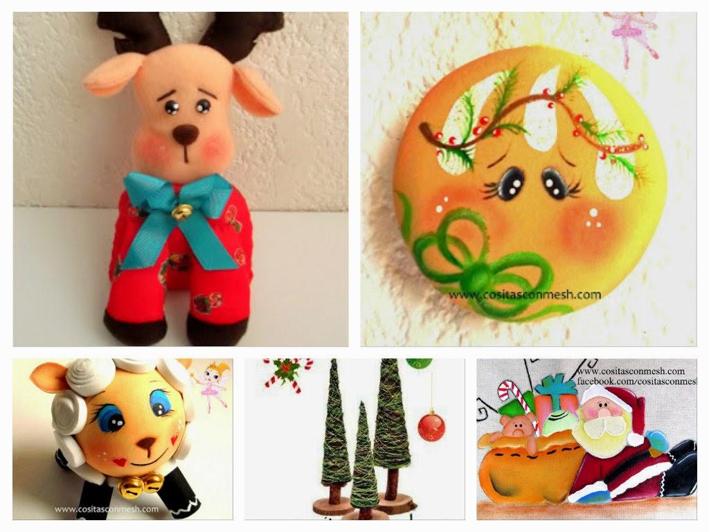 manualidades-navideñas-moldes-tutoriales