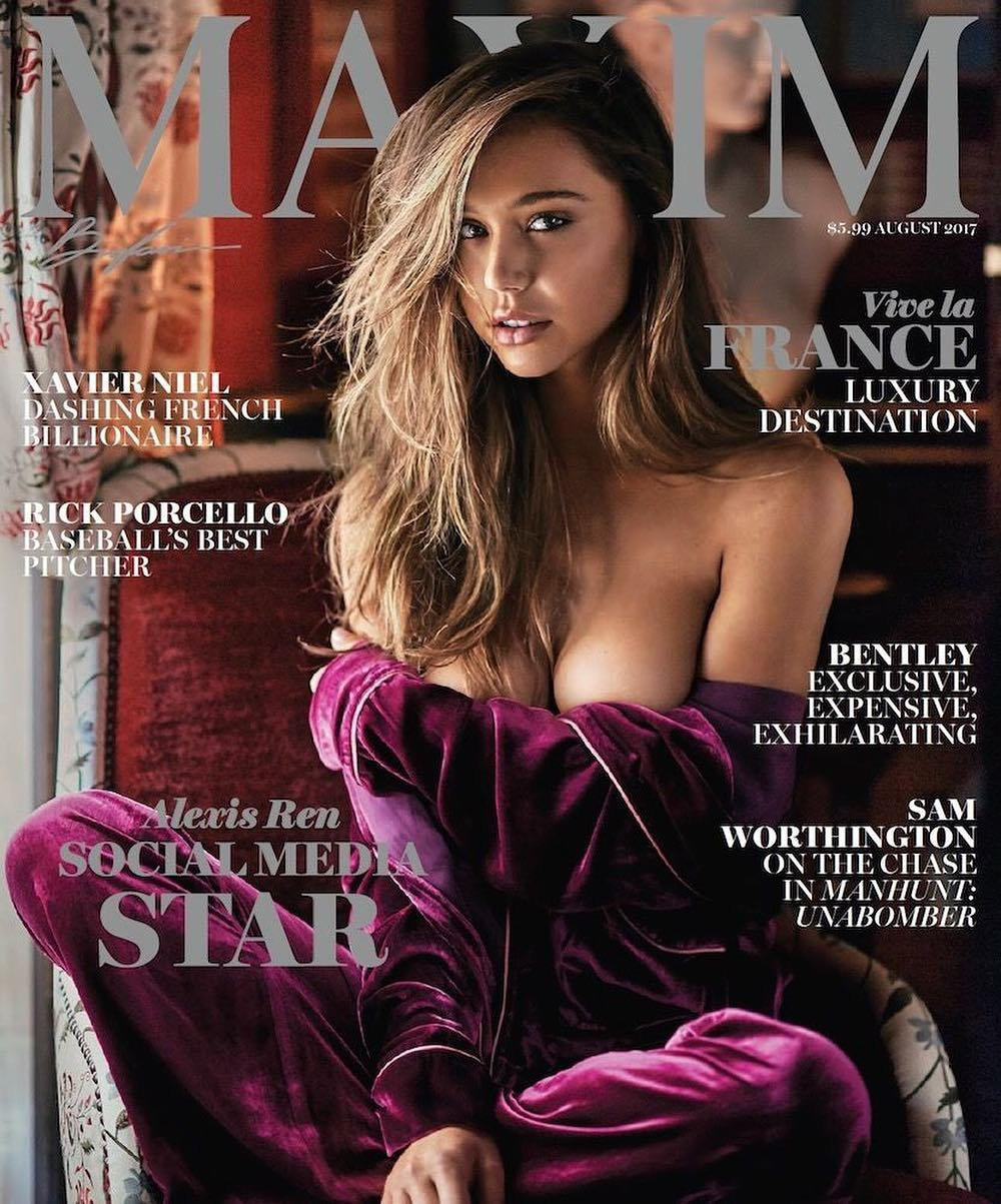 Alexis Ren is Maxim's August Cover Girl