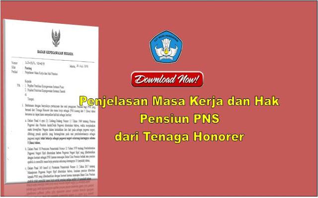 Masa Kerja dan Hak Pensiun PNS dari Tenaga Honorer