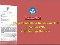 Penjelasan Masa Kerja dan Hak Pensiun PNS dari Tenaga Honorer
