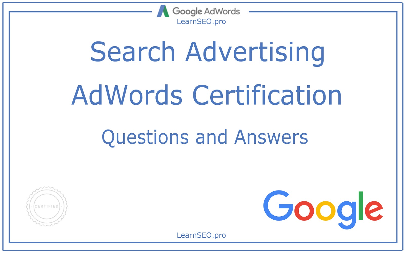 Adwords search advertising certification questions and answers search advertising certification fandeluxe Choice Image