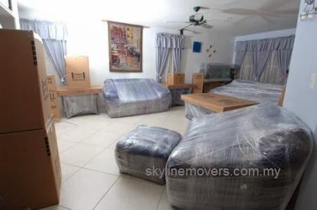 Lori Sewa 3 tan - Bungkus perabot dengan kemas