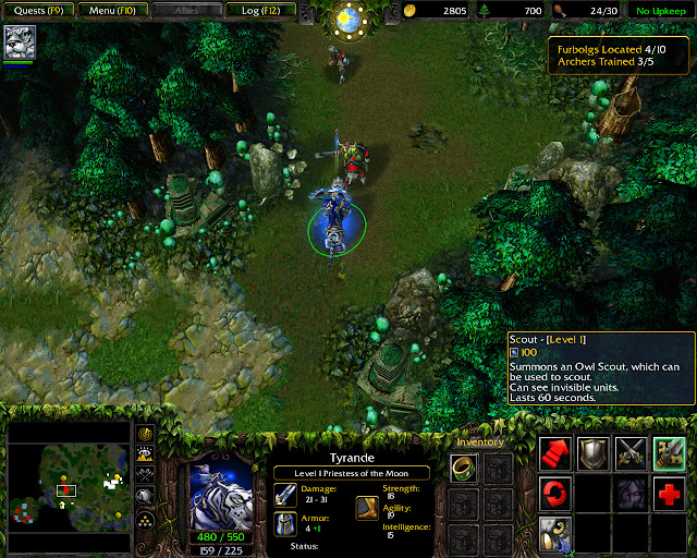 Enemies at the Gate Mission 28 | Tyrande Screenshot | Warcraft 3: Reign of Chaos