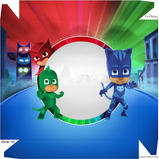 PJ Masks For A Box Invitation