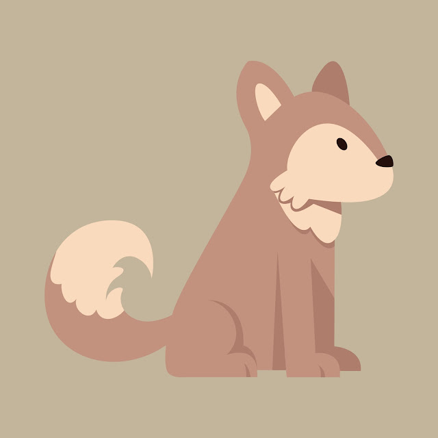 clipart, clip art, cute dog, vector, free download, husky, dog