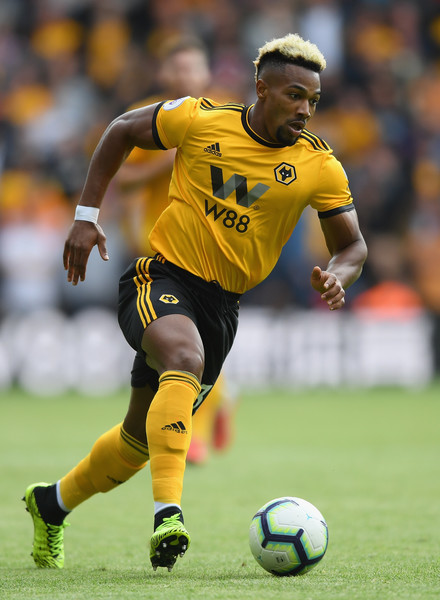 Adama Traore of Woverhampton Wanderers runs with the ball during the Premier League match between Wolverhampton Wanderers and Manchester City at Molineux on August 25, 2018 in Wolverhampton, United Kingdom. (Aug. 24, 2018 - Source: Shaun Botterill/Getty Images Europe)