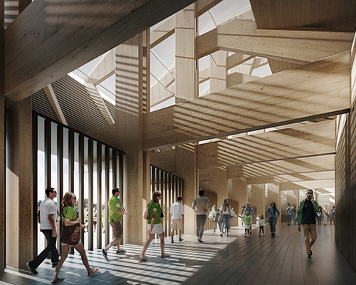 www.Tinuku.com Zaha Hadid Architects build football stadium made of wood for English football club Forest Green Rovers