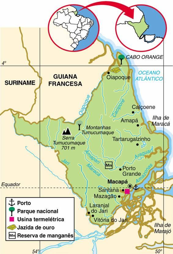 Amapá | Mapas Geográficos do Amapá