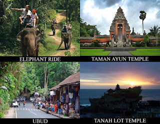 We convey arranged overnice combination of elephant ride action as well as sightseeing tour BaliTourismMap: ELEPHANT RIDE COMBINATION TOUR