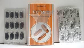 سعر ودواعي إستعمال دواء روتين سى Rutin C كبسولات لعلاج ضعف الشعيرات الدمويه